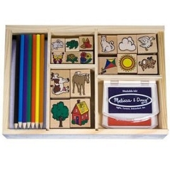 Deluxe Wooden Pencils And Stamp Set by Melissa And Doug