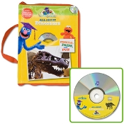 Sesame Street Subjects Set -  All About Dinosaurs - Fossils, Facts & Fun Learn-aloud Book And Cd, Plus Bonus Poster, Stickers And Activity