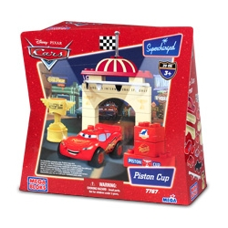Disney Pixar Cars - Piston Cup Mcqueen Mega Bloks Play Set by Mega Blocks