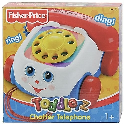 Toddler's First Retro Chatter Phone Rotary Pull-along Toy Telephone Fisher Price