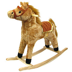 Cowboy Horse Soft Plush Rocking Animal Rocker by