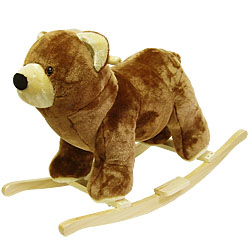 Bear Soft Plush Rocking Animal Rocker by