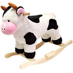 Cow Soft Plush Rocking Animal Rocker by