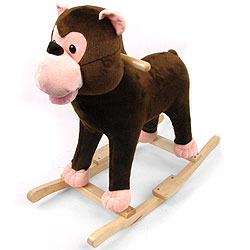 Monkey Plush Rocking Animal Rocker With Animal Sounds by