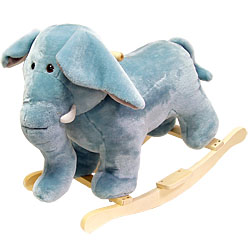 Elephant Soft Plush Rocking Animal
