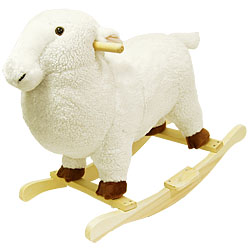 Lamb Soft Plush Rocking Animal Rocker by