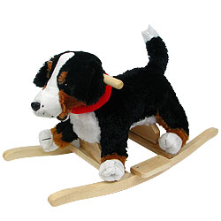 Puppy Dog Soft Plush Rocking Animal Rocker by