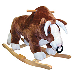Full Size Plush Bull Rocking Animal by