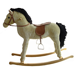 Large Plush Rocking Horse Animal With Sounds by