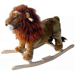 Full Size Plush Lion Rocking Animal by