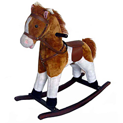 Full Size Plush Palomino Rocking Horse by