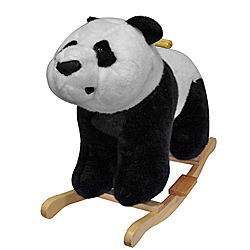 Panda Bear Plush Rocking Animal Rocker by