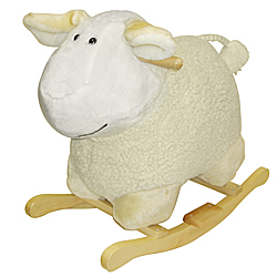 Cuddly Plush Rocking Sheep Animal by