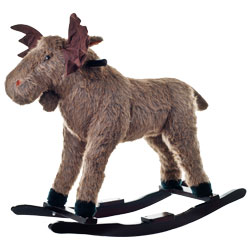 Plush Rocking Wild Moose Animal Rocker