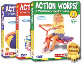 Bee Smart Baby Action Words! A Vocabulary Building Video, Complete 3 Volume Set Baby Bumblebee