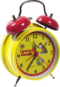 Curious George Alarm Clock With Bouncing Ball Monkey by Curious George