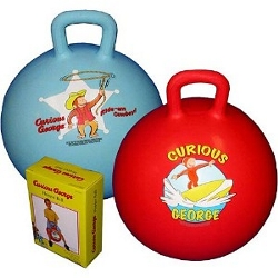 Curious George The Monkey Fun In The Sun Blue Hopper Ball by Pbs Kids