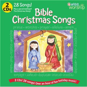 Wee Worship : 28 Bible Christmas Songs And Story Reading 2 Cd Set by Baby Genius