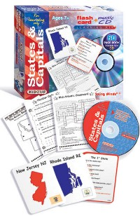 I'm Learning My States & Capitals - Learning Kit W/ Flash Cards, Music Cd, Worksheets Kidzup