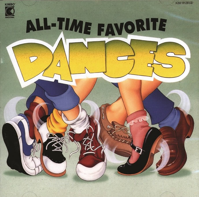 Kids All-time Favorite Dances Cd Music Collection by Kimbo Educational