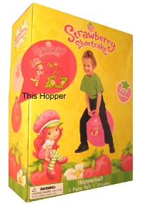 Strawberry Shortcake Inflatable Pink Hopper Ball by Strawberry Shortcake