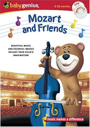 Baby Genius Mozart & Friends Dvd W/bonus Music Cd Baby Genius