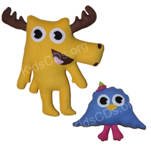 Moose A Moose & Zee Stuffed Soft Plush Toy Set by Noggin Tv
