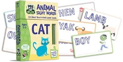 Pbs Kids Animal Sight Words (cat) - W/ Touch And Learn Cards  Marker by