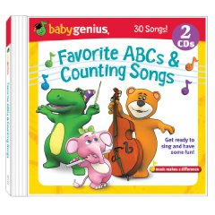 Favorite Abcs And Counting Songs 2 Cd Box Set Baby Genius