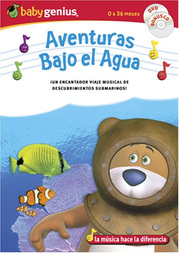 Underwater Adventures / Adventuras Bajo El Aqua English/spanish Dvd + Bonus Music Cd Set