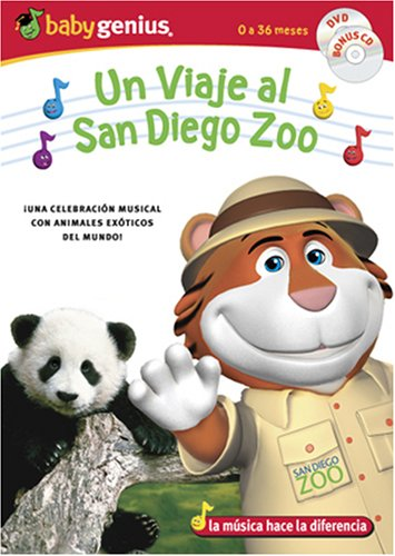 A Trip To San Diego Zoo / Un Viaje Al San Diego Zoo English/spanish Dvd + Bonus Music Cd Set by Baby Genius
