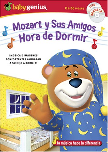 Mozart And Friends Sleepytime / Mozart Y Sus Amigos Hora De Dormir English/spanish Dvd + Bonus Music Cd Set