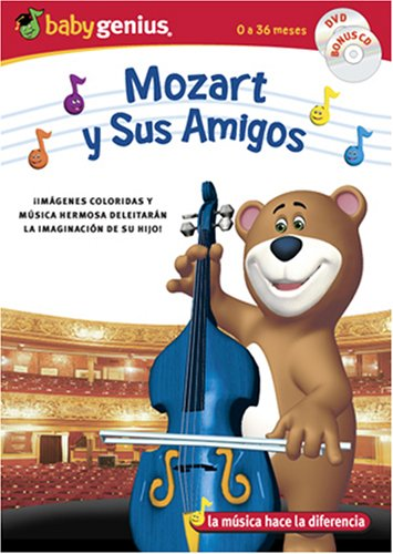 Mozart And Friends / Mozart Y Sus Amigos English/spanish Dvd + Bonus Music Cd Set by Baby Genius