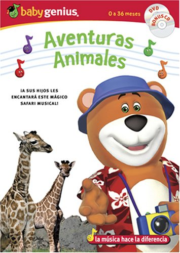 Animal Adventures / Adventuras Animales English/spanish Dvd + Bonus Music Cd Set by Baby Genius