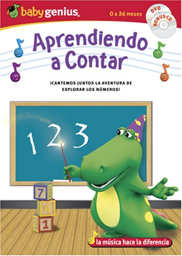 Things That Go Counting / Aprendiendo A Contar English/spanish Dvd + Bonus Music Cd Set Baby Genius