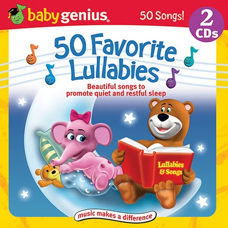 Baby Genius 50 Favorite Lullabies - Songs To Promote Quiet And Restful Sleep 2 Cd Set