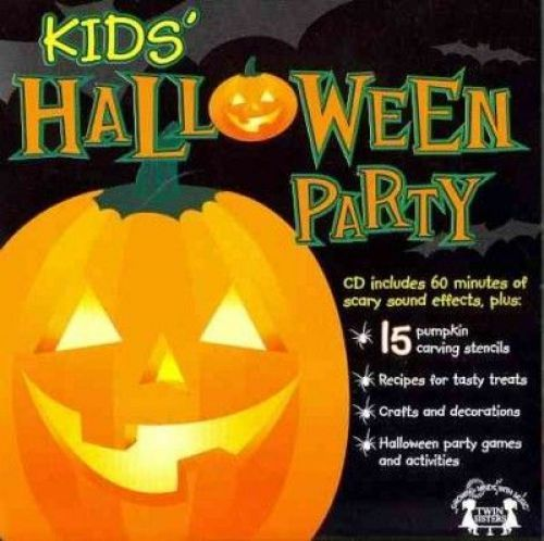 Kids Halloween Party Scary Sound Effects Music Cd With Crafts, Games And Activities
