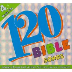 120 Bible Songs Box Set - 4 Full Length Music Cds With Lyrics + Activity Book [enhanced] by Twin Sisters
