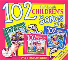 102 Children's Songs 3 Full-length Music Cds Box Set Twin Sisters