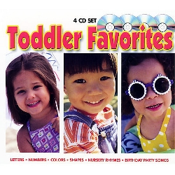 Toddler Favorites - Learn Colors, Letters, Numbers, Shapes, Nursery Rhymes & Birthday Party Songs 4 Cd Music Box Set by Twin Sisters
