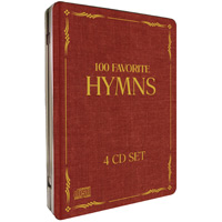 100 Favorite Hymns - Inspiring Music 4 Cd Gift Set In Collectible Metal Tin Case + 48 Page Printable Songbook